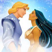 Pocahontas and John Smith Promational Art 2