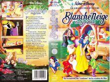 WDHV Blanche Neige 1994 Jaquette VHS