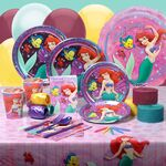 Ariel, flounder, and sebastion table set
