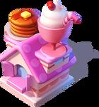 Bc-pancake and milkshake stand