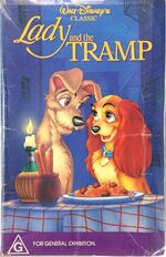 Lady and the Tramp 1990 Australia VHS