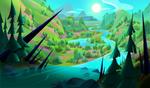 Rapunzel's Tangled Adventure background concept 1
