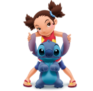 Yuna Kamihara with Stitch