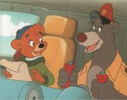 Baloo and Kit Drumming Up Business TaleSpin