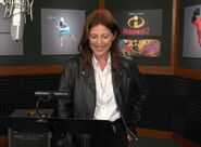 Catherine Keener behind the scenes Incredibles2