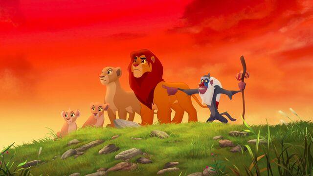 File:Simba Nala Rafiki Kiara Tiifu - Lion Guard.jpg