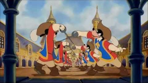 """""""الجميع للواحد"""" - ميكي . بطوط . بندق الفرسان الثلاثة"""