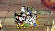 Duck the Halls Mickey Mouse family