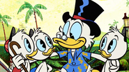 Duck the Halls - Scrooge with Huey, Dewey and Louie