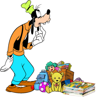 Goofy with Toys