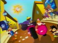 Darkwing and Launchpad in Magical World of Toons intro