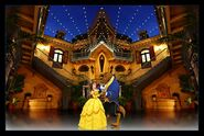 Belle and beast enjoying a dance in the court of angels-96976