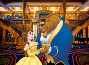 Belle and Beast at the Disney Cruise Line Lobby