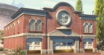 Radiator Springs Gerichtsgebäude und Feuerwahr