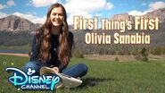 First Things First Challenge with Olivia Sanabia! Coop & Cami Ask the World Disney Channel