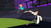 Perry flipping fight Doofenshmirtz