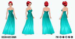 TheVault - Ocean Hues Gown