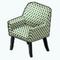 GreenAddictDecor - Green Pattern Armchair