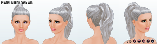 DitchYourResolutionsDay - Platinum High Pony Wig