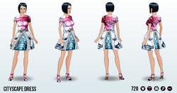 FashionWeekSpin - Cityscape Dress
