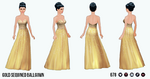 PrivateReserve - Gold Sequined Ballgown