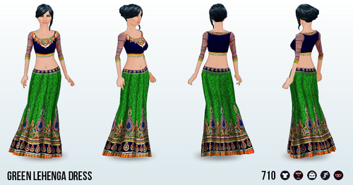 ArabianNights - Green Lehenga Dress