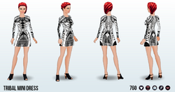 FashionWeekSpin - Tribal Mini Dress