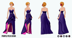 OdeToOscar - Purple Peek Gown