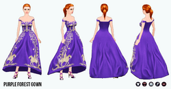 FallRunway - Purple Forest Gown