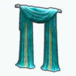 PeacockSpreeSpin - Peacock Blue Curtains
