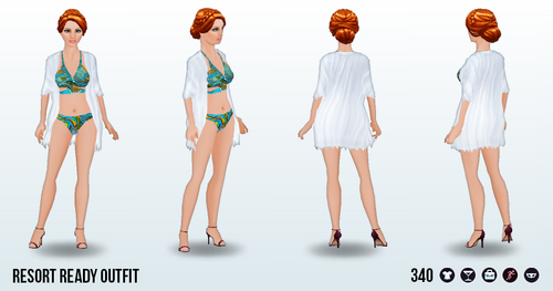 TropicalParadiseSpin - Resort Ready Outfit