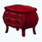 NightBeforeChristmasSpin - Red Bedside Table