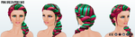 AprilFools - Pink Green Pony Wig