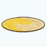 TropicalParadiseSpin - Round Jute Rug