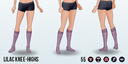 Tempo - Lilac Knee-Highs