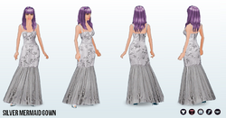 FashionExhibition - Silver Mermaid Gown