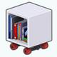 ElvesForElflings - Wheeled Book Cubby
