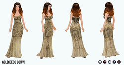 ChampagneSparkle - Gold Deco Gown