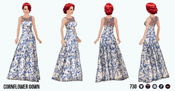 EveningSoiree - Cornflower Gown