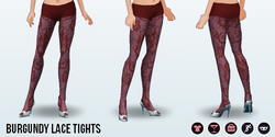 CafeRaffle - Burgundy Lace Tights