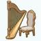 BaroqueBeautyDecor - Gold Harp