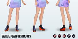 CafeRaffle - Wedge Platform Boots