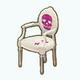 GothGirlSpin - White Antique Skull Chair