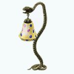 EveningSwampSpin - Snake Floor Lamp
