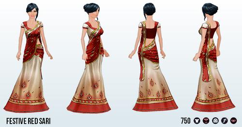 Diwali - Festive Red Sari