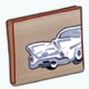 FastAndFashionableSpin - Vintage Car Clutch
