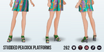 PackRatDay - Studded Peacock Platforms