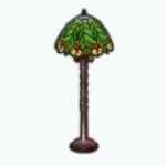 TropicalParadiseSpin - Glass Palm Lamp