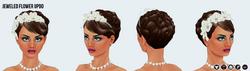 Bridal - Jeweled Flower Updo