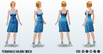 NaughtyOrNice - Periwinkle Holiday Dress